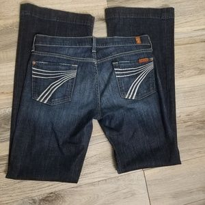 7 for all Mankind Dojo Flare Jeans 30 X 34